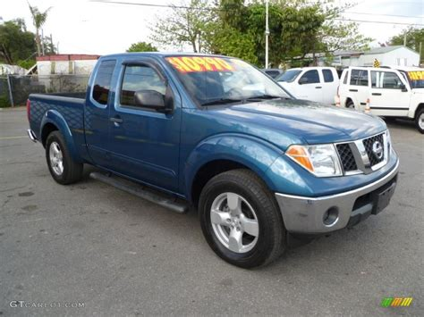 2005 Electric Blue Metallic Nissan Frontier Le King Cab