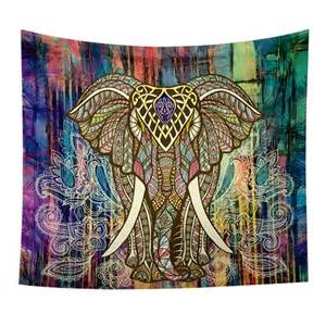 Bohemian Elephant Tapestry Wall Hanging