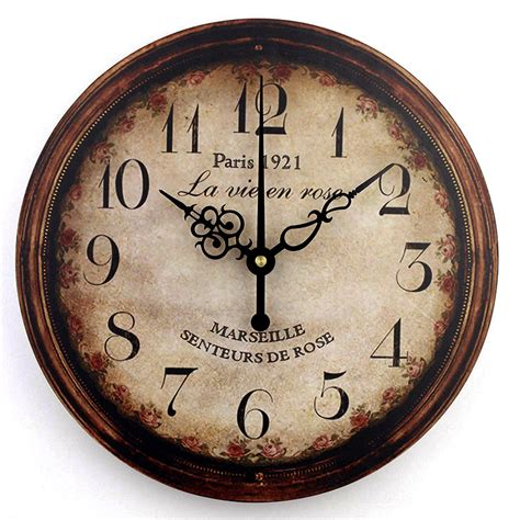 vintage large decorative wall clock home decor fashion silent 3d wall clock modern design