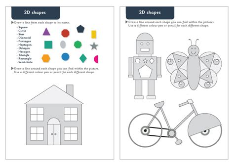 shapes worksheets eyfs 2d shapes maths worksheets free early years primary