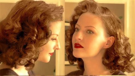 1940s Hairstyles Tutorial by Lilly Jarlsson Tutorial Pin Curl Set Easy 1940s