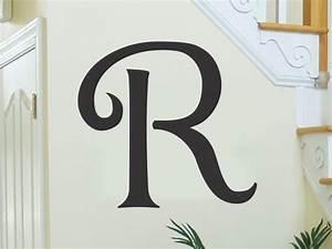 monogram letters for wall single letter vinyl lettering With vinyl monogram letters for wall