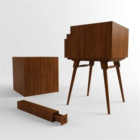 fibonacci furniture the fibonacci cabinet 3d model max obj 3ds fbx cgtrader com