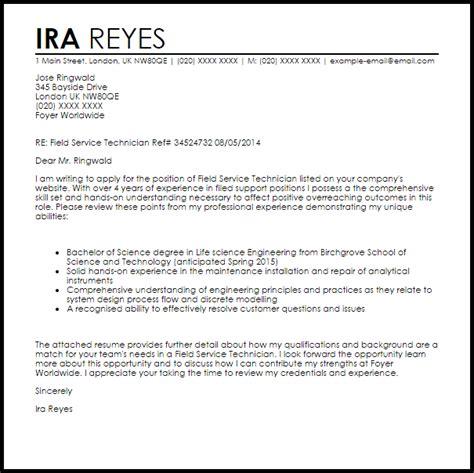 financial aid technician cover letter field technician cover letter sle cover letter