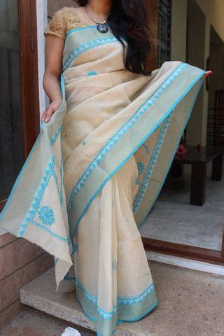 lucknow chikan work  kota cotton saree ethniqdesi