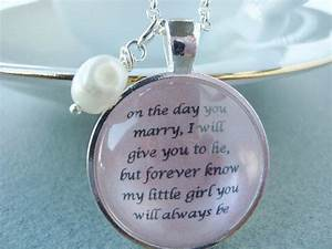 Father to daughter bridal pendant from sweetlyspokenjewelry on for Wedding gift from father to daughter