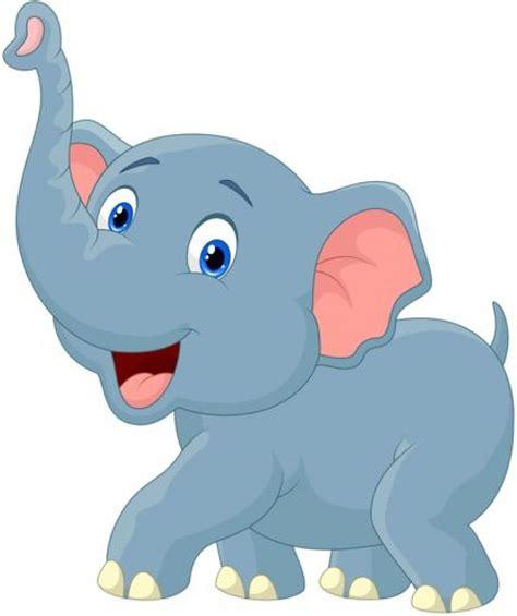 nursery for boy vector clipart elephant pencil and in color vector
