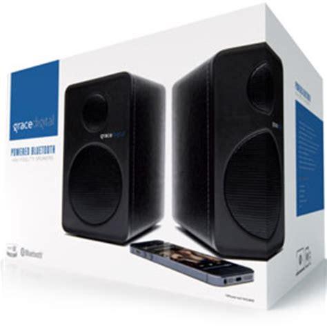 bluetooth shelf speakers grace digital gdi btsp207 powered bookshelf