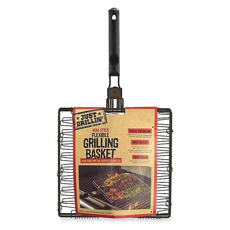 grillin nonstick flexibleexpandable grilling basket bed bath
