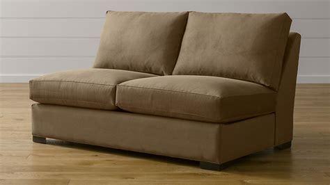 Armless Loveseat Sleeper by Axis Ii Brown Armless Sleeper Sofa Crate And Barrel