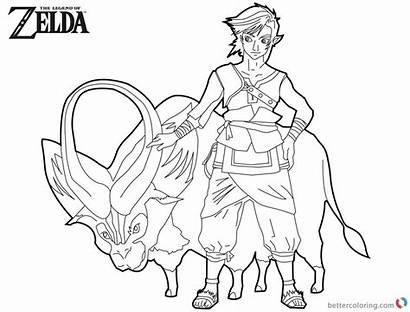 Zelda Coloring Pages Legend Link Ganon Twilight