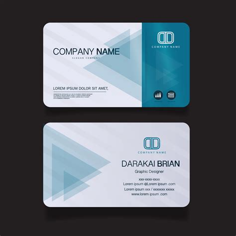 card modern simple business card template vector