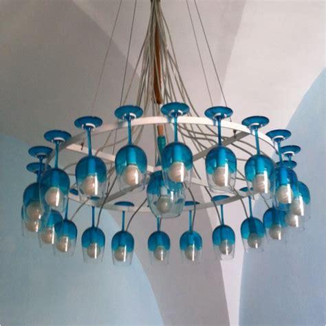 diy glass chandelier wine glass chandelier wine time diy
