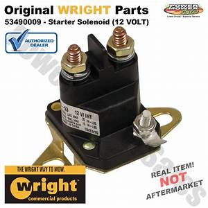 Wright Starter Solenoid  12 Volt  For 32 U0026quot   36 U0026quot    U0026 42 U0026quot  Deck