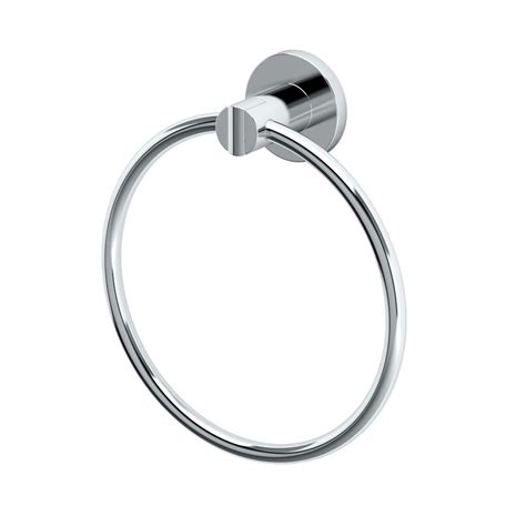 delta silverton towel ring in chrome 132889 the home depot
