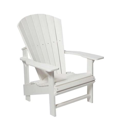 Generations Upright Adirondack Chair by Cr Plastic Generations Upright Adirondack Chair In White