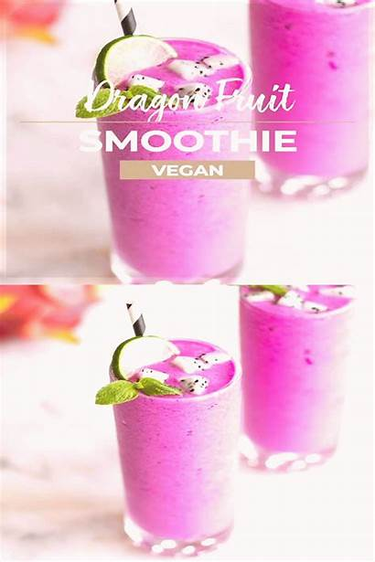 Fruit Dragon Smoothie Perfect Healthy Blend Tropical