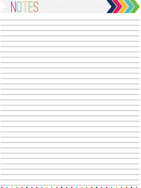 notes page template 8 best images of blank notes page printable pdf template free printable planner notes page