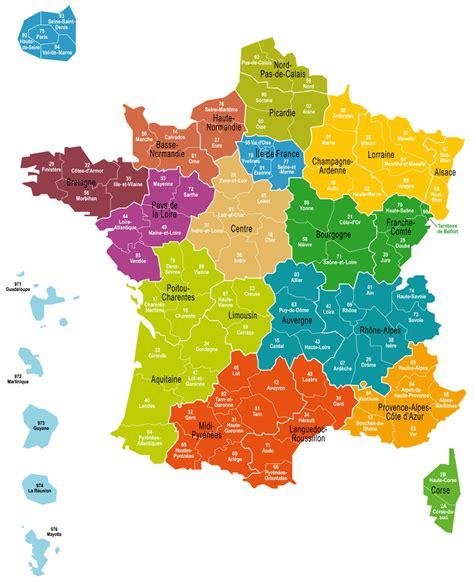 Carte De Avec Les Nouveaux Départements by Cartes Des R 233 Gions Et Quiz Cartes De
