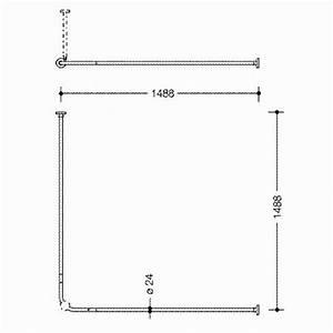 Duschstange L Form : hewi lifesystem duschstange chrom 99 l form 1500 mm ~ Orissabook.com Haus und Dekorationen