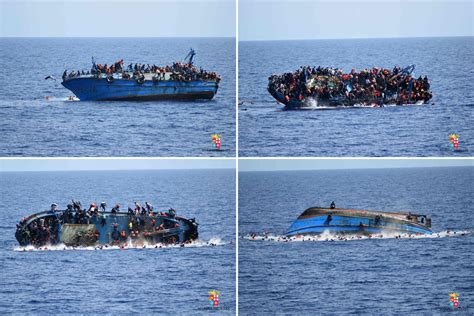 Refugee Boat Italy by Italy Refugee Immigration Shipwreck Rescue Combo