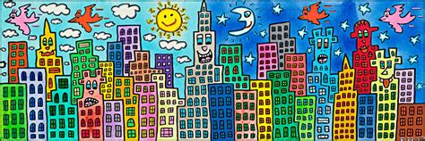 james rizzi  candy colored city  love