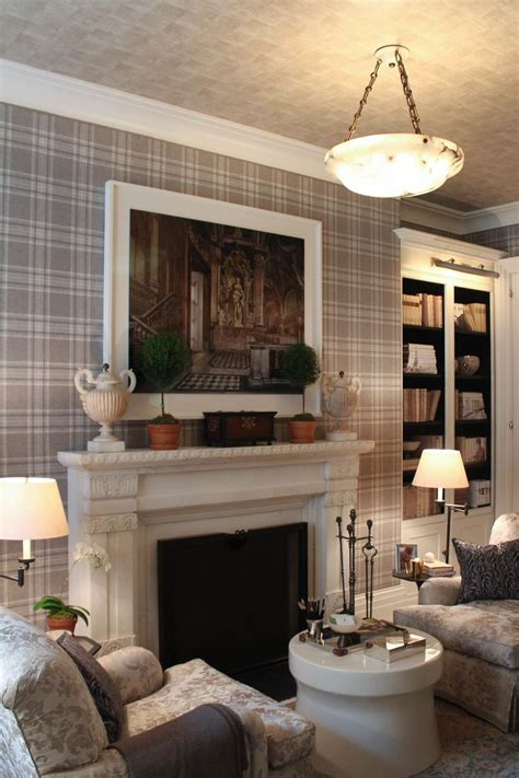 contrasting walls  ceiling trendy living room