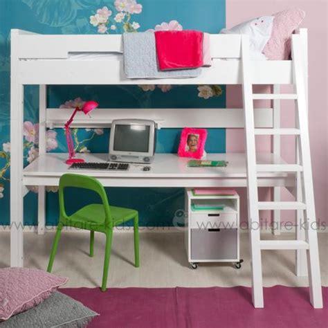 lit mezzanine avec bureau chambre enfant de la marque bopita chez abitare