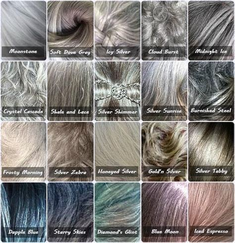 All Hair Colour Shades by Gray Color Chart Because Not All Gray Hair Is The Same