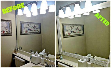 Builder Grade Bathroom Mirror by Framing Your Builder Grade Bathroom Mirror In 2019 Diy