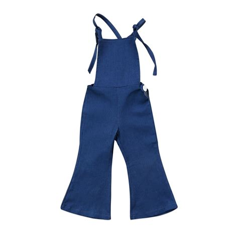 Sleeveless Overall 2017 baby bell bottoms overalls clothes