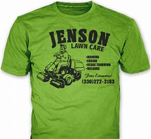 Lawn care landscaping company t shirts promotional for Lawn care shirt ideas