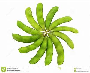 Edamame Soy Beans Shelled In Flower Shape Royalty Free ...