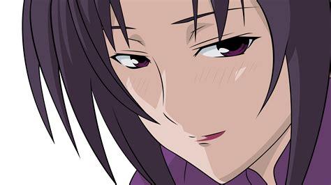Close Kazehana Purple Eyes Purple Hair Sekirei Transparent