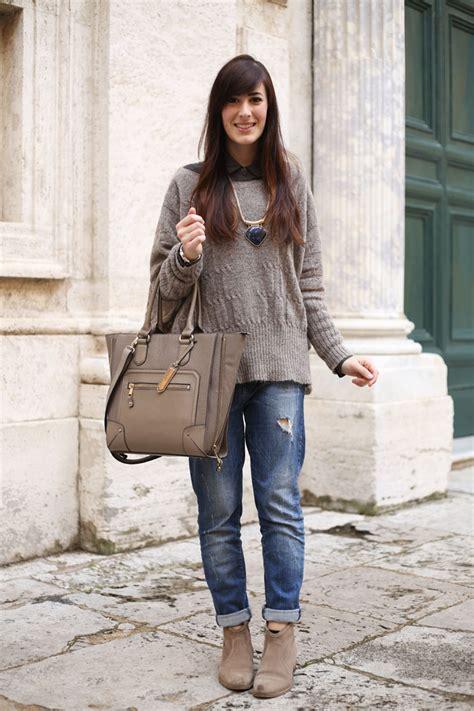 Un outfit invernale con jeans boyfriend e maglione oversize   Le FreakS - Fashion Blogger Roma