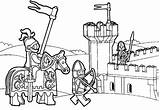 Lego Coloring Knight Kingdom sketch template