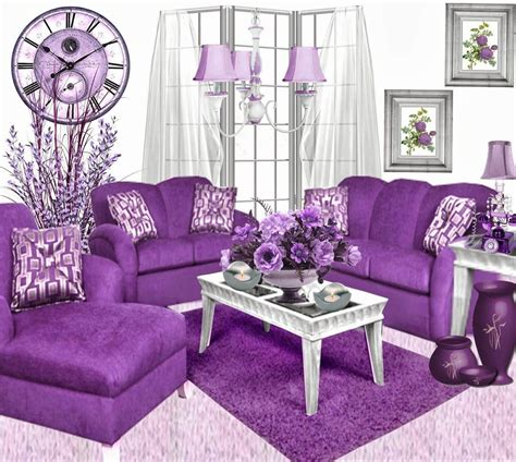 what color goes with purple for home decoration 18