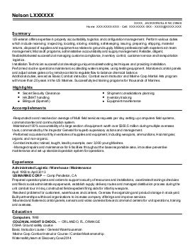 91b Light Wheel Vehicle Mechanic Resume Example (us Army. Project Support Officer Resume. Standard Resume Format For Engineers. What To Put On A Babysitting Resume. Accounting Student Resume Examples. Sample Elementary Teacher Resumes. Resume And Motivation Letter. Career Focus On Resume. Construction Site Supervisor Resume Sample