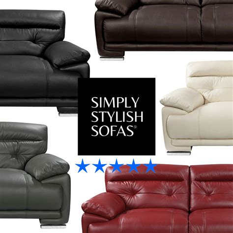 Italian Cowhide Leather by Volastra Genuine Italian Cowhide Real Leather Sofas 3 2