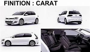 Volkswagen Golf Carat Exclusive : quelle finition choisir 1 trendline confortline carat ~ Medecine-chirurgie-esthetiques.com Avis de Voitures
