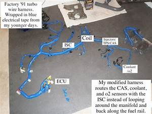 Rerouting The Engine Wiring Harness