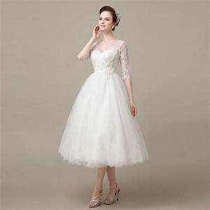 aliexpresscom buy hot sale half sleeve cheap mid calf With mid calf wedding dresses