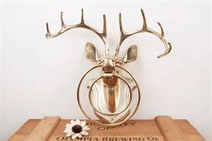 beauty deer head wall decor home decor and design deer With best brand of paint for kitchen cabinets with reindeer head wall art