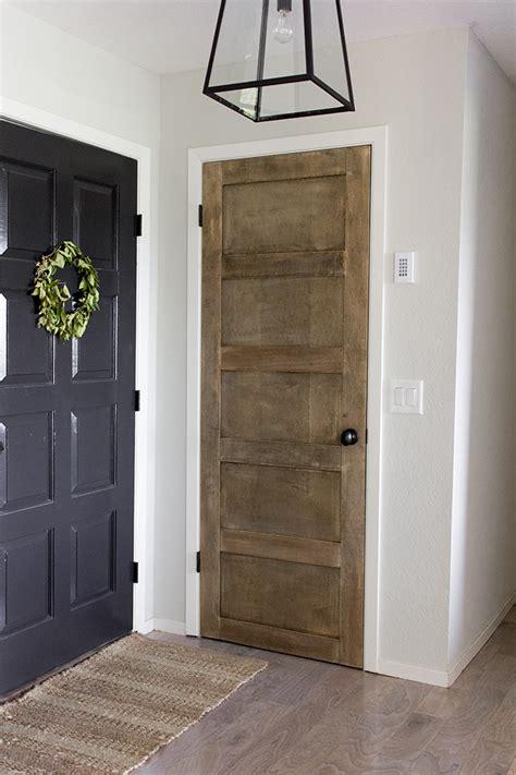 Door Makeover by White Diy Panel Door Makeover Featuring Sue