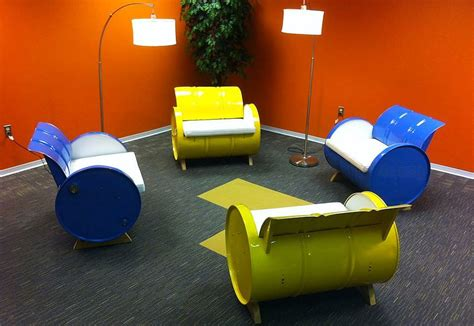 55 gallon drum furniture 55 gallon steel drums repurposed into amazing furniture collection