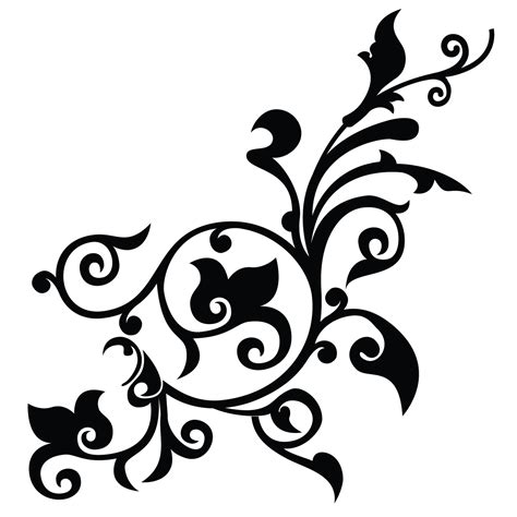 flower black  white png transparent png pictures