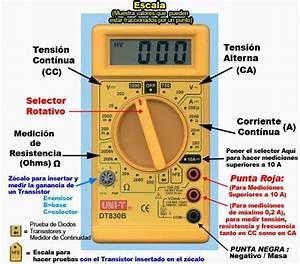 Electr U00d3nica Y Circuitos  El Multimetro Digital Y Su Uso