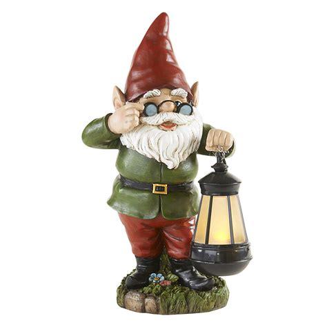 gnome statue  lantern boy outdoor living outdoor