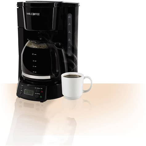 Wake up to fresh coffee every morning with the mr. Mr. Coffee 12-Cup Programmable Coffee Maker, Black - perfect deal