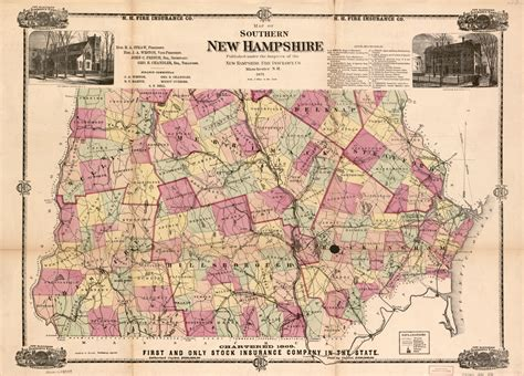 Map Of Southern New Hampshire Library Of Congress